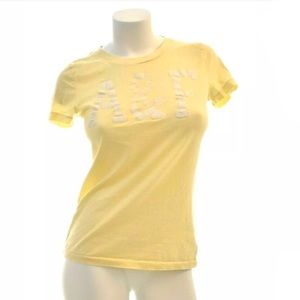 Abercrombie & Fitch Canary Yellow Top L